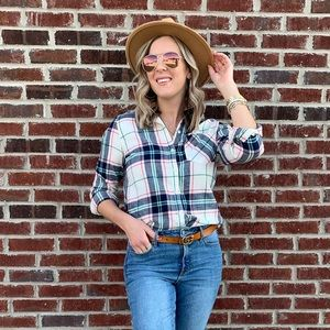 Old Navy plaid button up